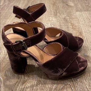 Madewell Vanessa Crisscross Platform Sandals - 6.5